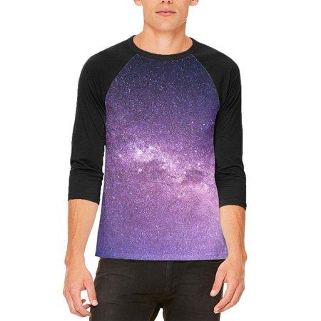 Halloween Galaxy Space Stars Mens Raglan T Shirt - Halloween Space Miami