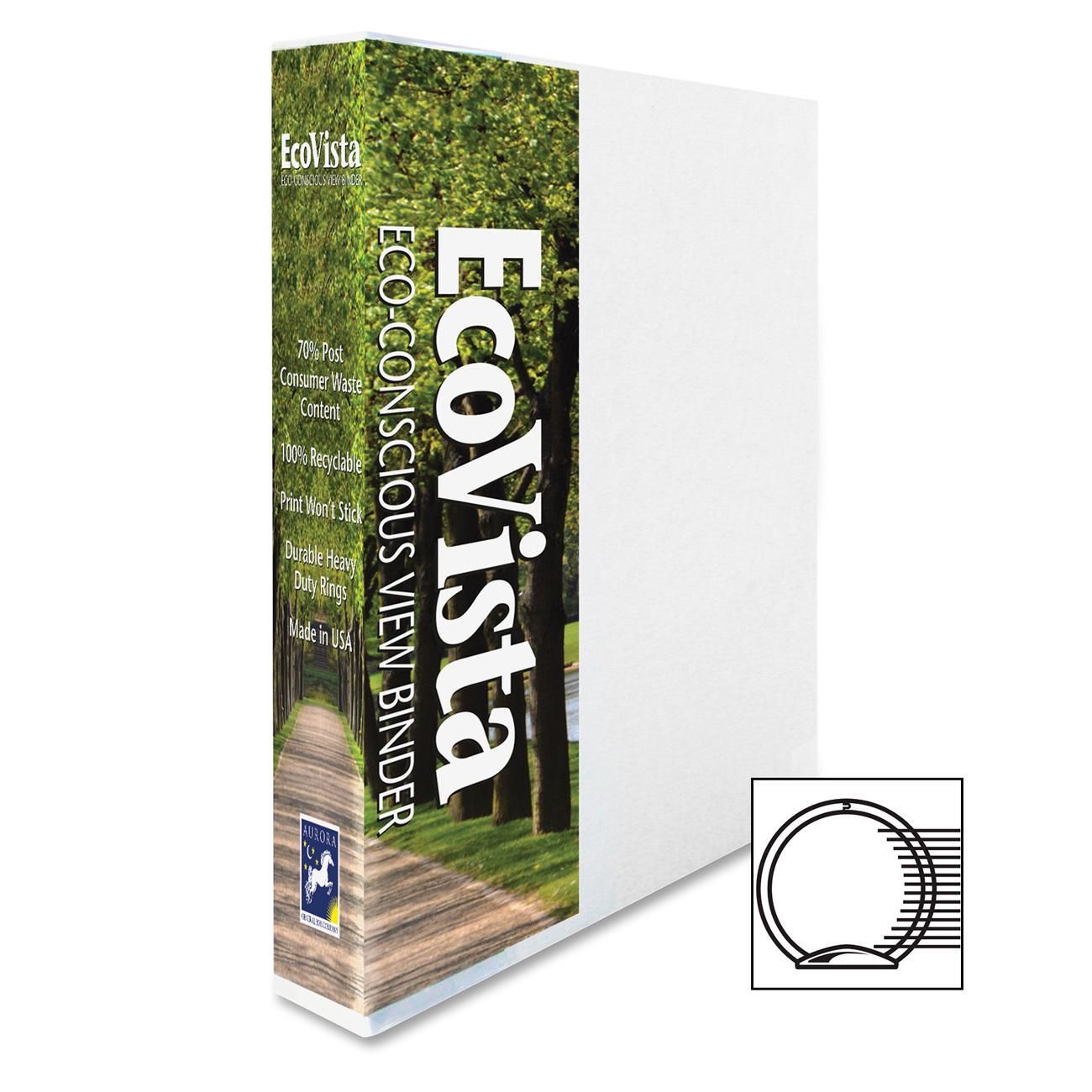 Aurora Products Eco-Vista Round Ring View Binders