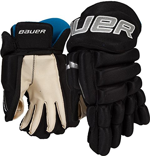 Bauer Prodigy Youth Hockey Gloves, 9 Inch, Black by Bauer