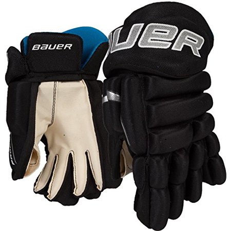 Bauer Prodigy Youth Hockey Gloves, 9 Inch, Black