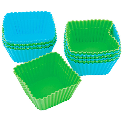 Wilton Silicone Standard Baking Cup Liner, Square 12 ct. 415-9424