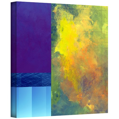 ArtWall 'Earth Squares II' by Jan Weiss Painting Print on Wrapped Canvas
