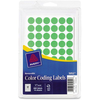 Avery Round Color-Coding Label AVE05052 - Walmart com