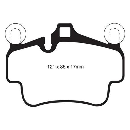 - EBC 07-08 Porsche 911 (997) (Cast Iron Rotor only) 3.6 Carrera 2 Redstuff Front Brake Pads