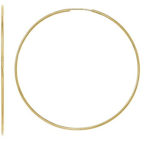 10kt Gold Polished Endless Tube Hoop Earrings ()