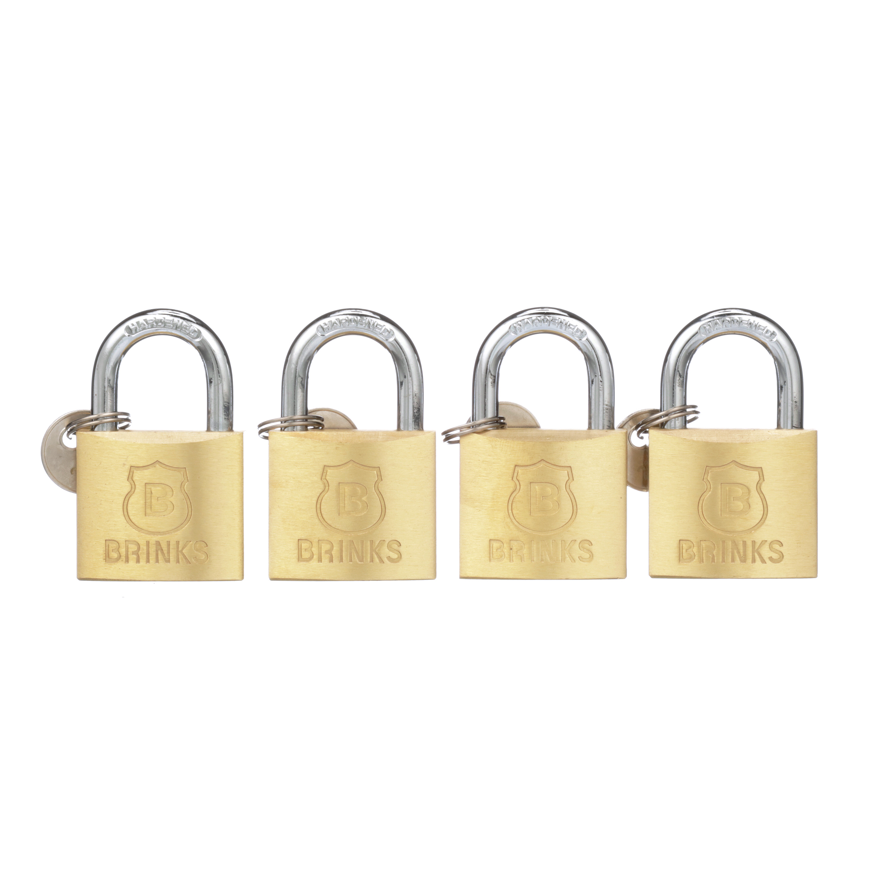 Brink's 40mm Solid Brass Padlock, 4-Pack by Hampton Products Int'l Corp.