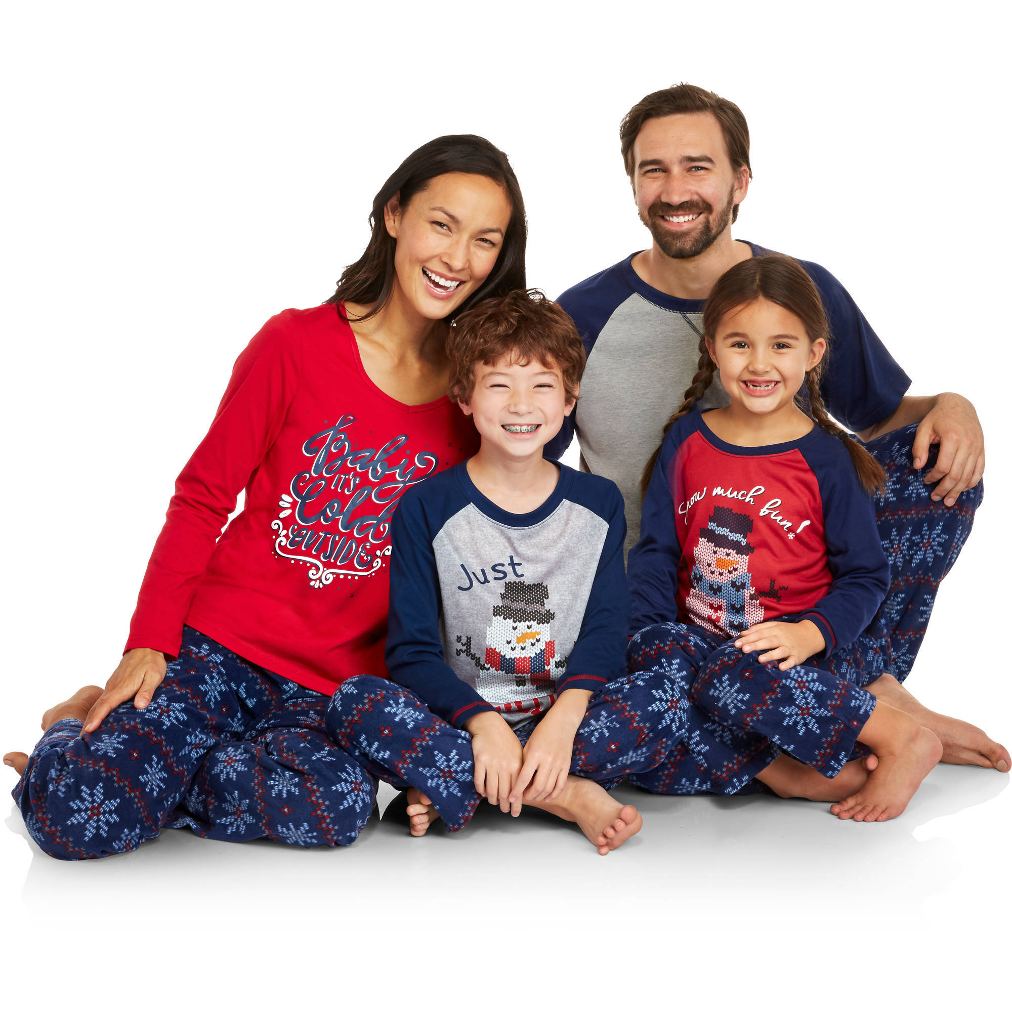 Holiday Family Pajamas Snowflake Sleep Pant & Top 2 Piece Sleepwear Set
