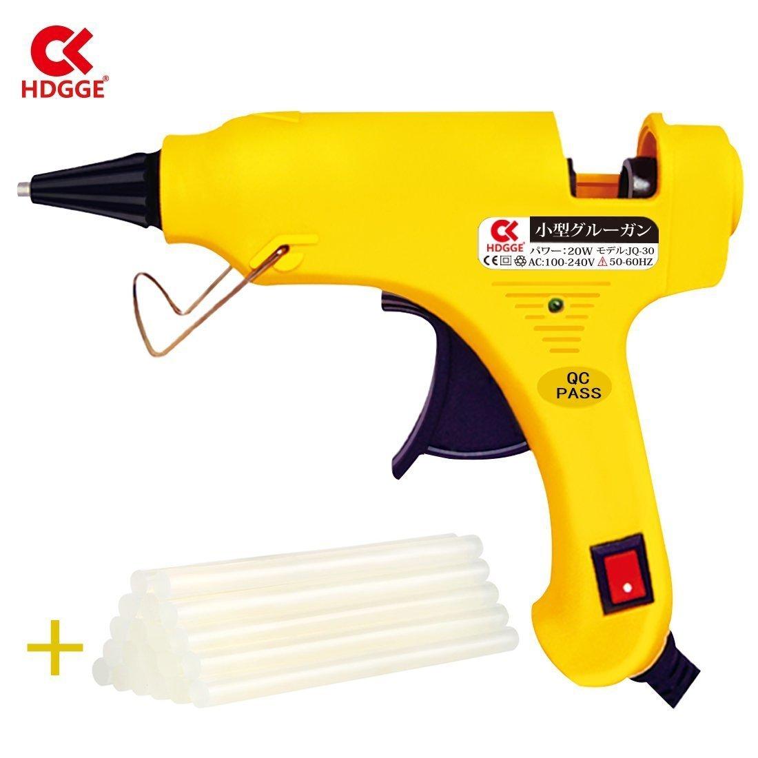 Mini Hot Melt Glue Gun with 35pcs Glue Sticks High Temperature Melting Glue Gun Kit Flexible Trigger for DIY... by HDGGE