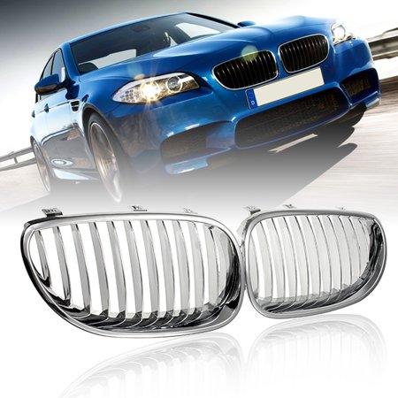 - Front Hood Kidney Grilles Grill Chrome For BMW E60 E61 M5 5-Series 2003-2009 NEW