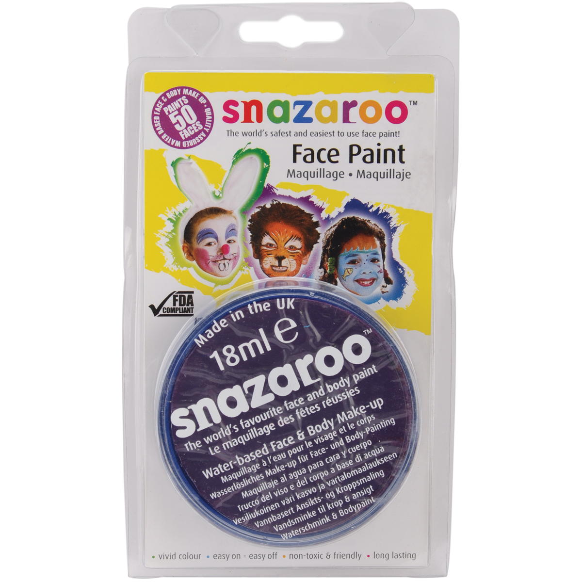 Snazaroo Face Paint 18ml-Bright Red