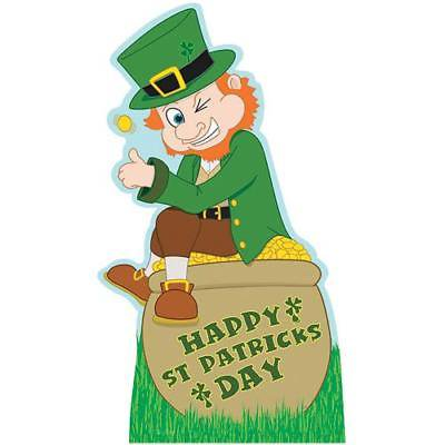 IN-13577367 Leprechaun With Pot Of Gold / Rainbows Stand-Up 1 Piece(s) - Rainbow Pot Of Gold