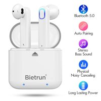 Bluetooth Wireless Earbuds, Update Bluetooth 5.0 Wireless Headphones with Built-in Mic and Charging Case, Hands-free Calling Sweatproof In-Ear Headset Earphone Earpiece for iPhone/Android Smart Phones