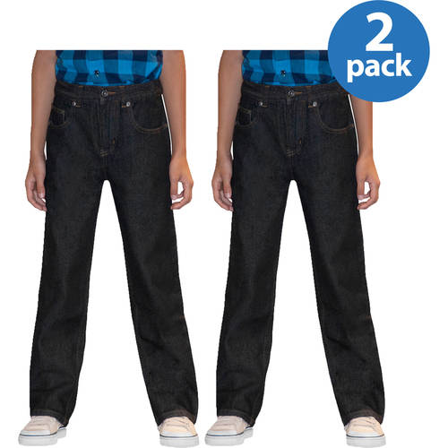 Faded Glory Slim Boys' Relaxed Denim Jeans, 2 Pack Value Bundle