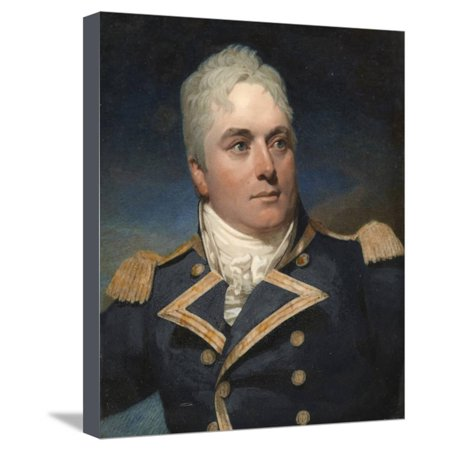 - A Portrait Miniature of Captain Alexander Skene Wearing Naval Uniform Stretched Canvas Print Wall Art By Andrew Robertson