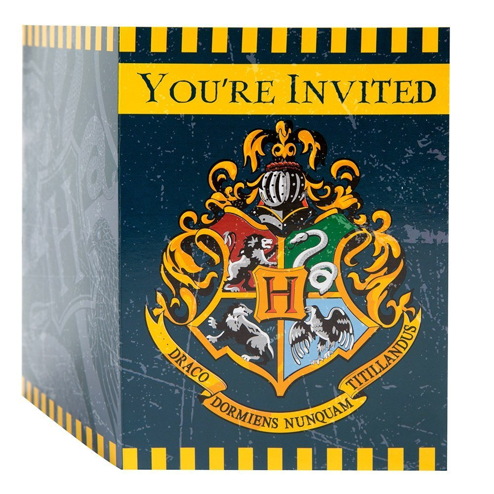 Harry Potter Invitations 8 Per Pack