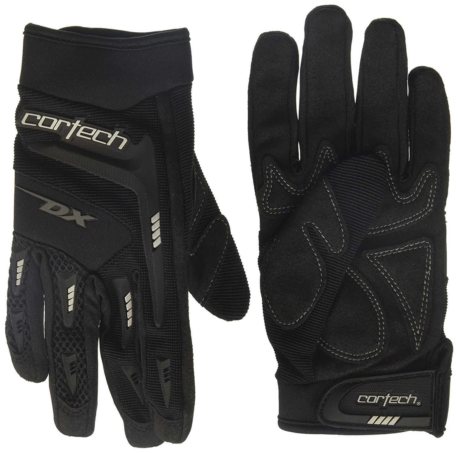 Women's DX 2 Glove(Black, Medium), 1 Pack, Clarino 0.8mm palm material with internal foam padding is ergonomically configured to increase grip.., By Cortech from USA