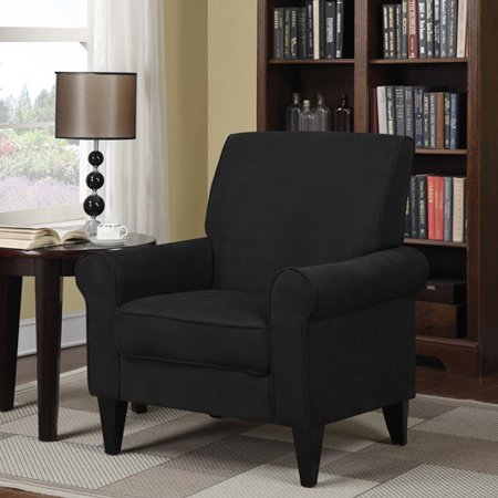 Dana microfiber rolled arm accent chair for Microfiber accent chairs living room