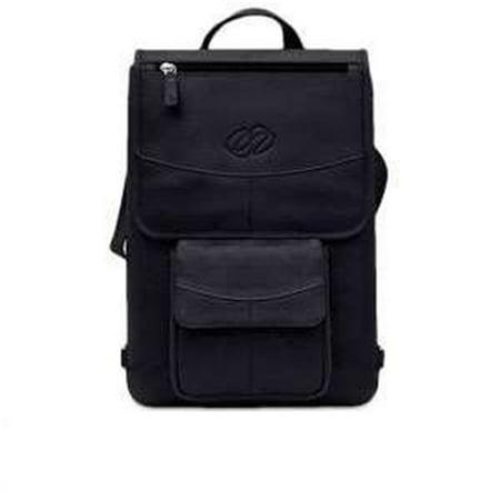 MacCase L11FJ-BK-BP 11 in. Premium Leather MacBook Air Flight Jacket with Backpack Opt - Black