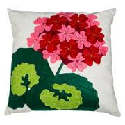 Evergreen Enterprises Felt Geranium Outdoor Pillow