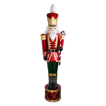 National Tree 65 Inch Jeweled Nutcracker with Metallic Paint