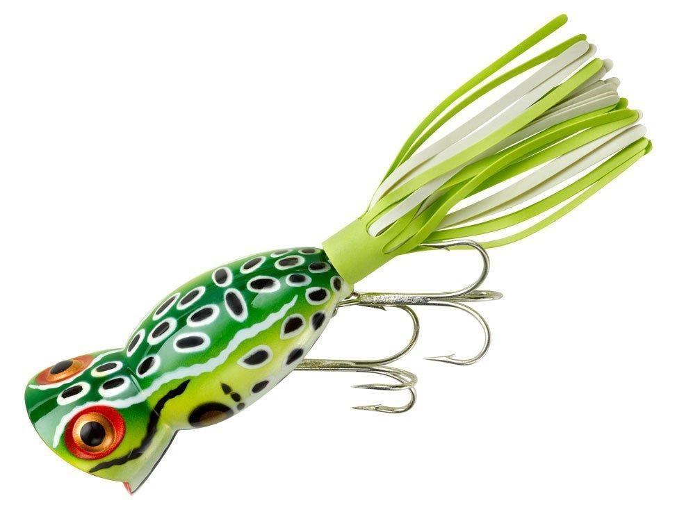 Arbogast Hula Popper 5 8 oz Fishing Lure Leopard Frog by Arbogast Lures