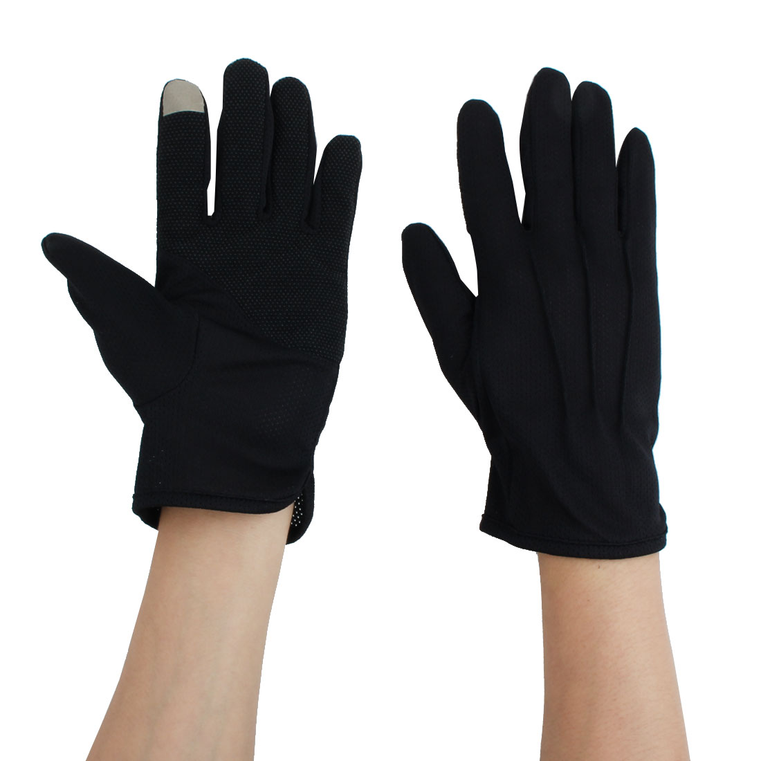 Man Summer Motorcycle Riding Driving Sun Resistant Gloves Protector Black #2