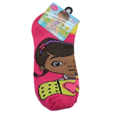 Disney Junior's Doc McStuffins Magenta Colored Socks (1 Pair, Size 6-8) - Doc Mcstuffin Shoes For Toddlers