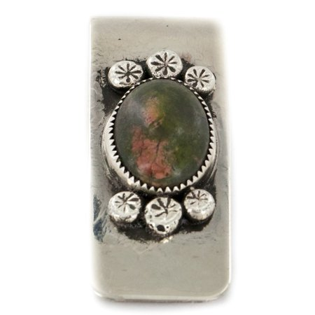 90 Retail Tag Handmade Authentic Made by Robert Little Navajo Nickel and .925 Sterling Silver Natural Jasper Native American Money