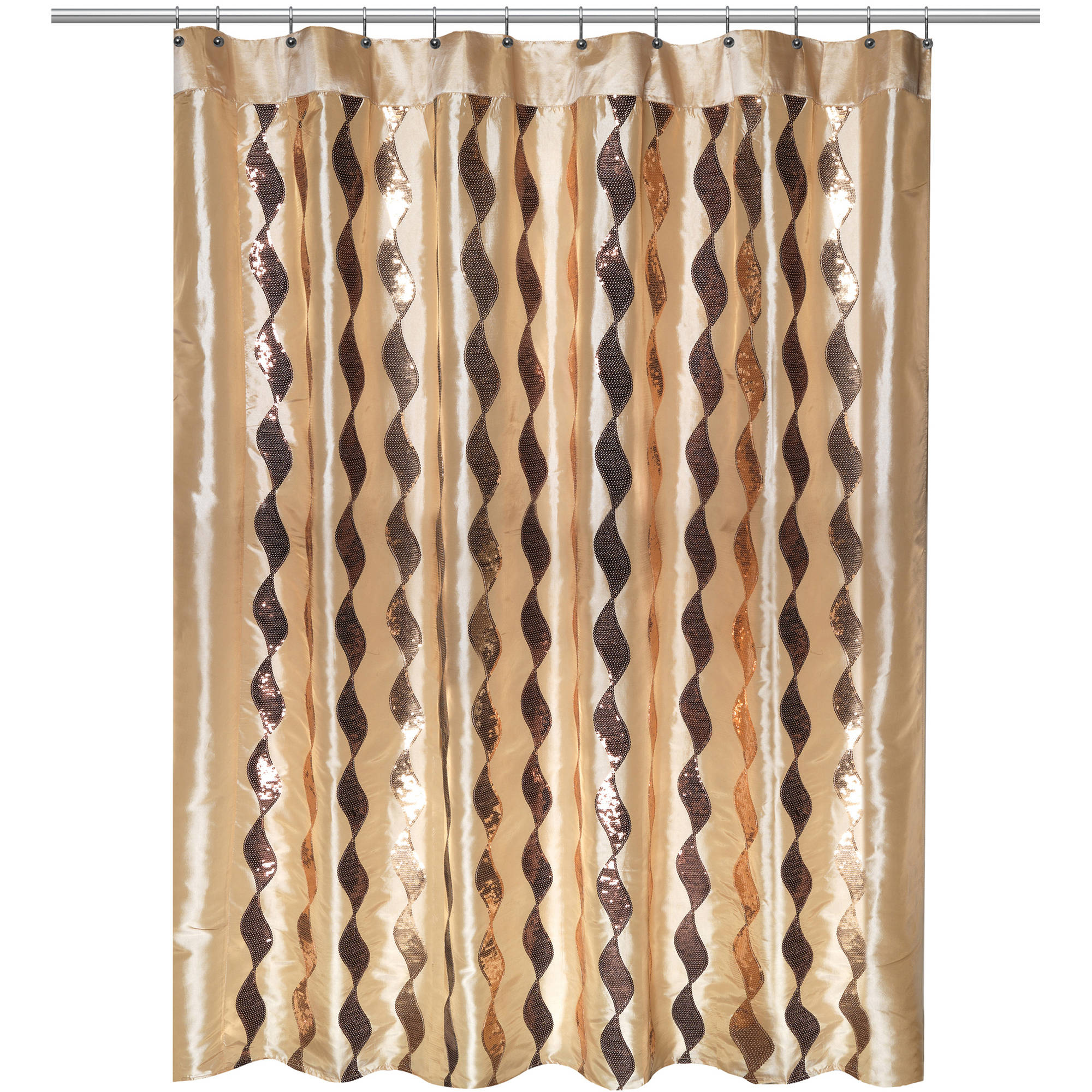 Shimmer Gold Shower Curtain