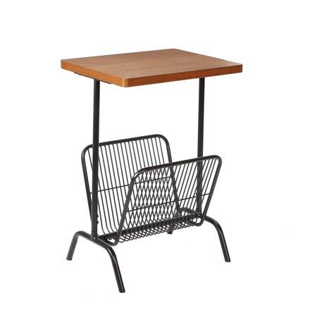 Ashton Accent Table with Large Magazine Rack ()