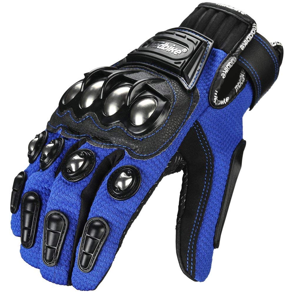 ILM Alloy Steel Knuckle Motorcycle Motorbike Powersports Racing Tactical Paintball Gloves for Unisex Black