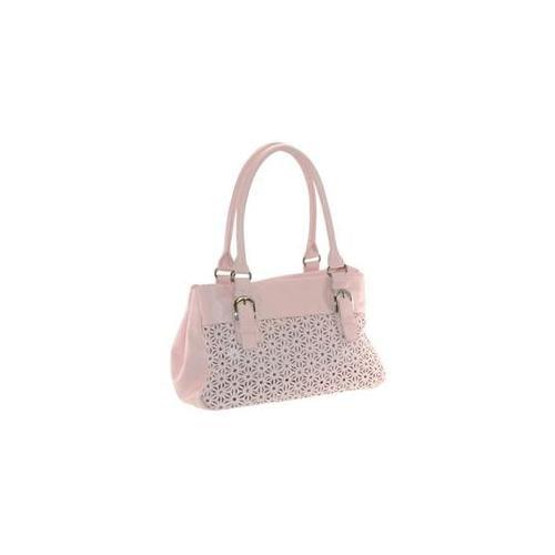 Buxton FDF11012. PK. BX Daisy Collection Expandable Satchel - Pink