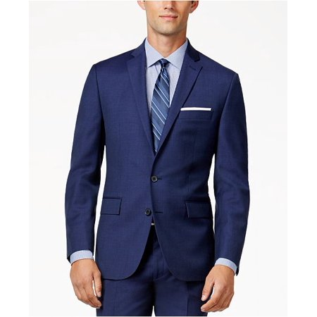 Ryan Seacrest Distinction Men's mid Blue Modern Fit Jacket, Size 40R