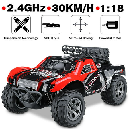 1:18 48 KM/H 2.4GHz Remote Control Car RC Electric Monster Truck Off Road Vehicle Toy Kids Birthday