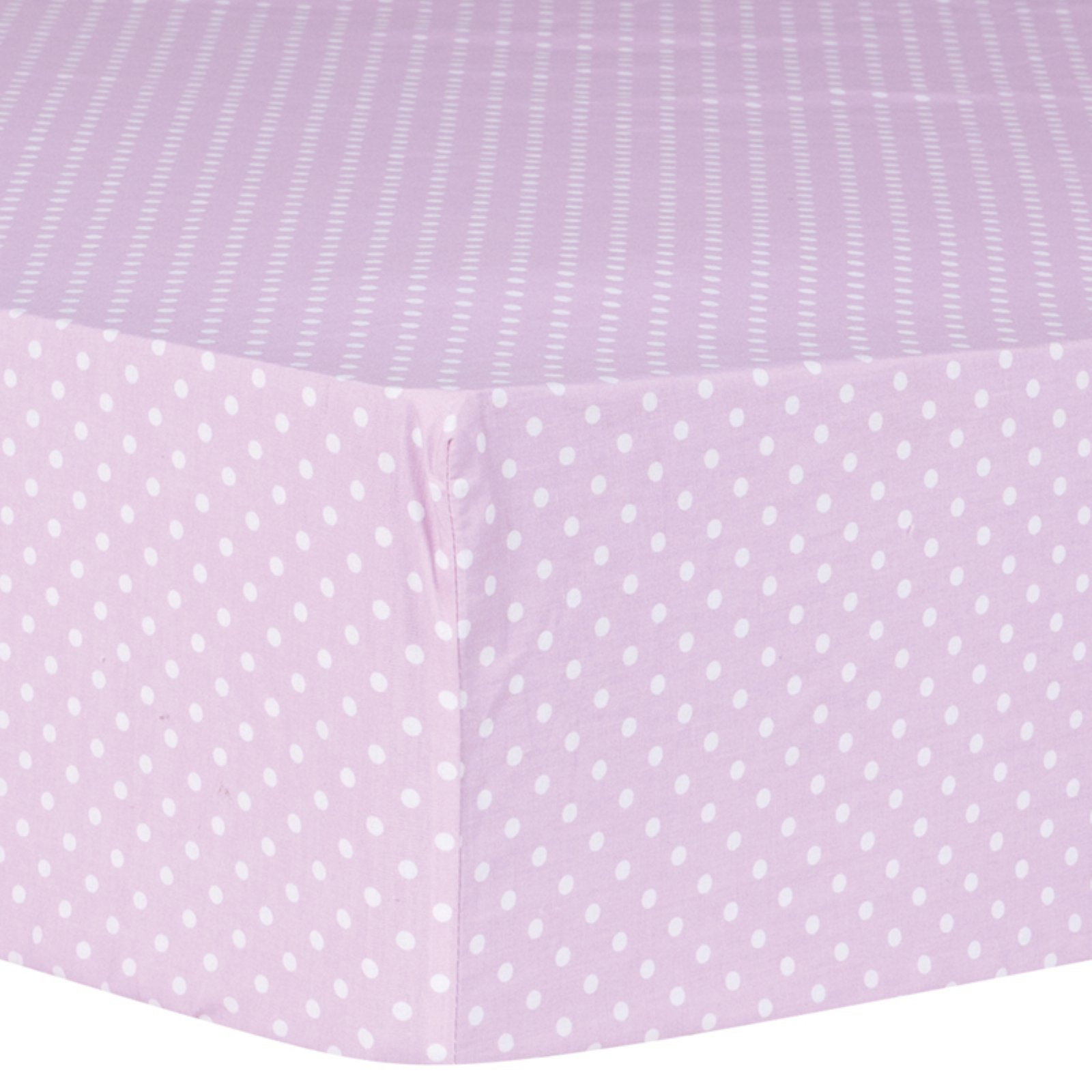 Orchid Bloom Dot Fitted Crib Sheet
