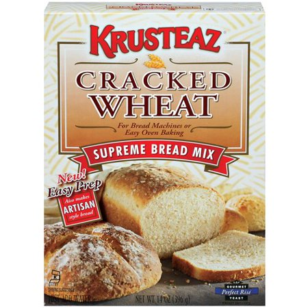 Krusteaz Supreme Cracked Wheat Bread Machine Mix, 14 oz