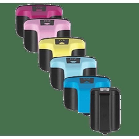 Zoomtoner Compatible HP PhotoSmart D7263 HP 02 INK / INKJET Cartridge Set Black Cyan Yellow Magenta Light Cyan Light Magenta - image 1 of 1
