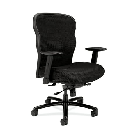- HON Wave Big and Tall Executive Chair - Mesh Office Chair with Adjustable Arms, Black (VL705)