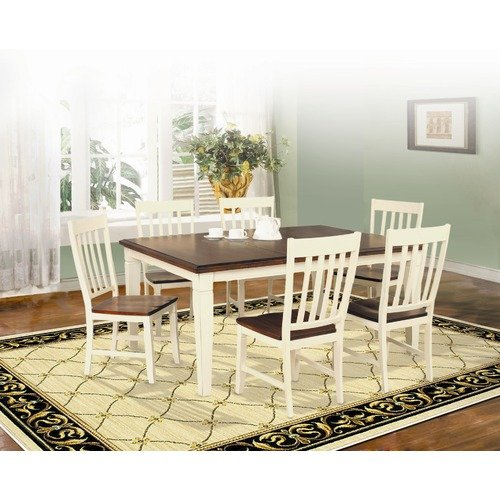 Lifestyle California Avery Dining Table in Distressed Cherry and Antique White
