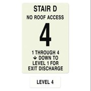 INTERSIGN NFPA-PVC1812(D1N4) NFPASgn,StairIdD,RoofAccssN,FlrsSrvd1to4 G0262818