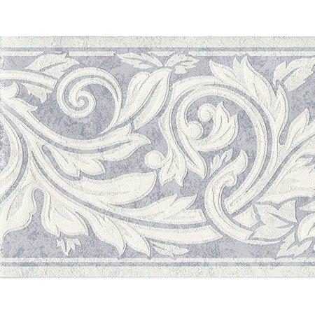 879022 Raised Texture Fl Wallpaper Border