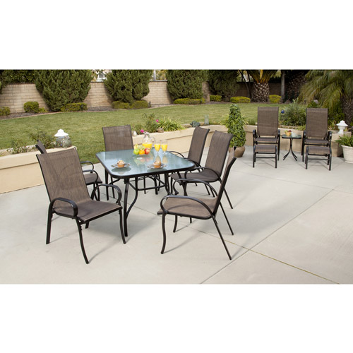 Mesa 12 Piece Sling Patio Dining Set U0026 Leisure Set Value Bundle, Red,