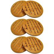 HealthPro Organic Moso Bamboo Collection Heavy Duty Trivet Set (6)