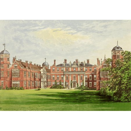 Cobham Hall - Views of Seats 1880 Cobham Hall Poster Print by  AF Lydon