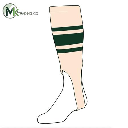 Natural Medium Green (TCK Baseball Stirrups Medium (200C, 7in) Natural, Dk Green)