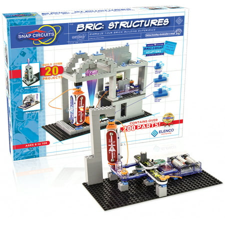 Snap Circuits BRIC Structures Building Set - Energize Your Brick Building Experience! - Snap Circuit Lights