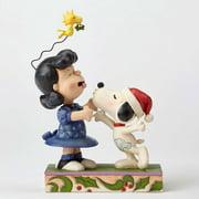 Jim Shore Peanuts 4052720 Snoopy Kissing Lucy Mistletoe New 2016 by Enesco