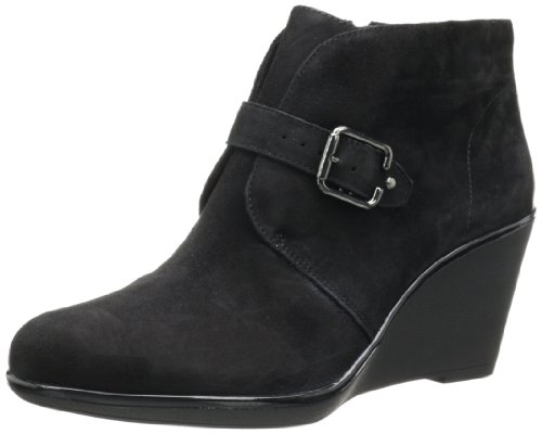 Clarks Women's Daylily Surety Ankle Boot, Black Suede, Si...