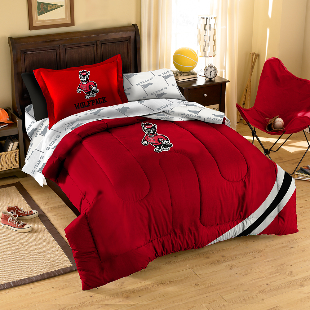 NCAA North Carolina State Wolfpack Bedding Set, Twin