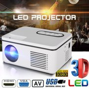 TSV Mini Projector, LED Pico-Projector, Pocket Video Projector Support HDMI Smartphone PC Laptop USB AV TF for Movie Games